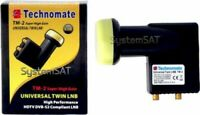 TECHNOMATE TM-2 SUPER HIGH 0.1dB TWIN UNIVERSAL LNB NEW