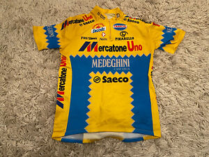 rare original 1995 team MERCATONE UNO PINARELLO cycling jersey - Marco Pantani