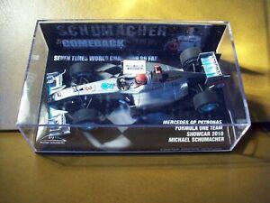 1/43 MINICHAMPS MICHAEL SCHUMACHER MERCEDES GP 2010 SHOWCAR COMEBACK EDITION