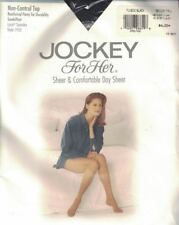 Jockey Sheer Non Control Top Sandalfoot Toe Pantyhose Tuxedo Black Med-Tall