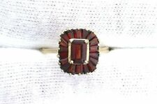 14K Yellow Gold Garnet Gem Stone Gemstone Fashion Cocktail Ring Size 6.25