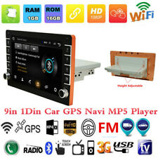9in 1Din Android 8.1 Coche Radio Estéreo reproductor de MP5 GPS SAT NAV BT WiFi Mirror Enlace