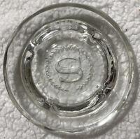 "Vintage Ashtray Sheraton Hotel  5"" Round Clear Glass Advertising"