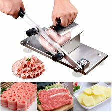 Manual Frozen Meat Slicer, Stainless Steel Meat Cutter Beef Mutton Roll Meat