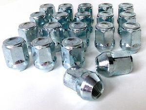 Car wheel nuts bolts lugs. M12 x 1.5, 21mm Hex, Tapered Seat fits Kia x 20