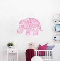 Elephant Decal Mandala Yoga Studio Decor Wall Decals Bedroom Vinyl Sticker Al5