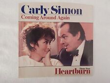 """Carly Simon """"Coming Around Again"""" PICTURE SLEEVE! NEW! RARE MOVIE STILL ISSUE!!"""