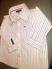 Tommy Hilfiger 100% Cotton Striped Blue Red & White NEW