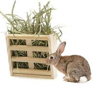 Pet Hay Feeder Natural Wood Manger Manger Rack Hay Feeder for Rabbit Guinea Pig