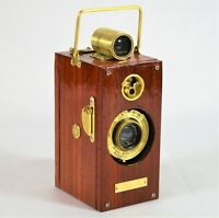 BOX CAMERA VINTAGE ANSCO MEMO 1927 TYPE 93 YRS VINTAGE CUSTOM PADAUK WOOD VENEER