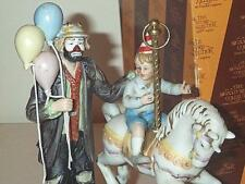 EMMETT KELLY JR COLLECTOR'S ONLY 1989 THE MERRY-GO-ROUND FIGURINE WITH COA