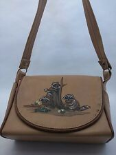 Vintage Original Florida Keys Handbag Tan Brown Raccoon Purse Shoulder Bag