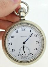 Antique 18 Size Omega Regina 17 Jewel Manual Wind Pocket Watch Swiss Running