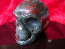 Crystal skull chinese bloodstone cs7