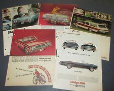 Vintage Dodge Car Ads Advertisements 1960's era Polara 880 Wagons Coronet Dart
