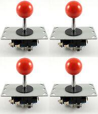 4 X Sanwa Estilo bola superior Arcade Palancas De Mando, 8 Way (rojo) - Mame, Jamma