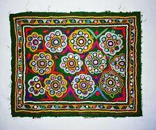 Rabari Kutch Textile Handmade Vintage Patchs Pour Coussin Oreiller Veste Jean