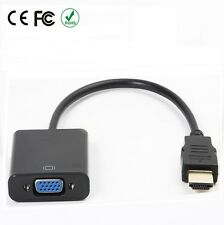 Male HDMI To Female VGA Monitor Cable Computer TV Cord Adapter 15-PIN 1080P PC