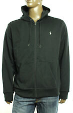 New Mens Polo Ralph Lauren Full Zip Black Interlock Hoodie Sweatshirt Jacket XXL