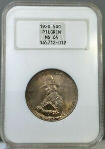 1920 50c Pilgrim Commemorative Half Dollar NGC MS64
