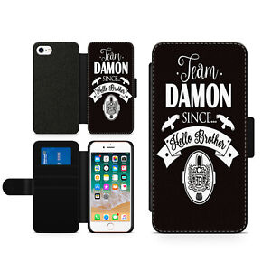 Vampire Diaries Team Damon Hard Wallet Flip Phone Case Cover