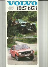 VOLVO CARS 1927 - 1973 HISTORY CAR SALES BROCHURE