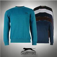 Mens Branded Slazenger Fleece Crew Neck Sweater Sweatshirt Size S  M L XL XXL