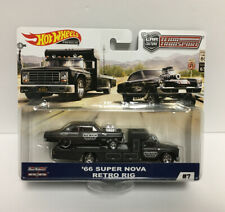Hot Wheels Chevy Super Nova 66 with Retro Rig Team Transport (FAST SHIPPING!)