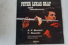 Peter-Lukas Graf spielt Flötenkonzerte Quantz Stamitz Zürcher Kammerorches(LP12)