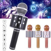 Bluetooth Wireless Microphone Karoke Stereo Player Mic Speaker Home KTV Ws-858