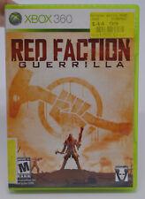 Red Faction Guerrilla Microsoft Xbox 360 2009 Video Game Complete in Box CIB THQ