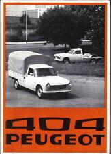 Peugeot 404 Pick Up Chassis Cab Original 1975-1976 Sales Brochure