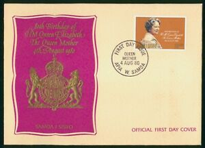 Mayfairstamps Samoa I Sisifo FDC 1980 Queen Elizabeth 80th Birthday First Day Co