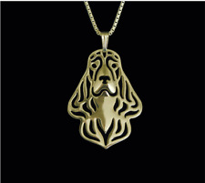 English Cocker Spaniel necklace Gold pendant dog necklace 18k gold plated dog