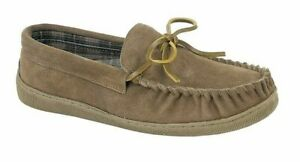 Sleepers Mens Real suede Moccasin slip on slippers Style Adie Colour Sand New