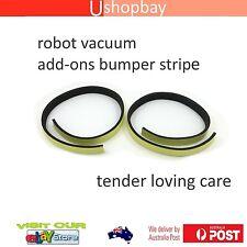 Robot Vacuum Cleaner Guard Pad Adhesive Strip Back Front Bumper Black