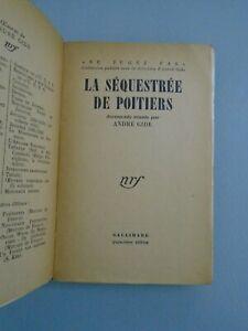 ANDRE GIDE- LA SEQUESTREE DE POITIERS- ED GALLIMARD- 1930- E.O.