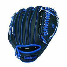 New Wilson A200 Boy Glove Right Hand Throw 10 Black Blue Free Shipping