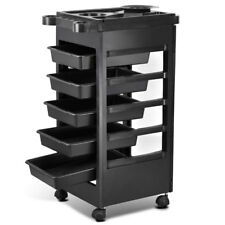 "32"" Hairdresser Spa Trolley Barber Beauty Storage Hair Rolling Cart Salon Tool"