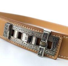 Raro Hermes plata esterlina 925 Touareg TRIBE Collier Chien CDC Cinturón Talla 75 de