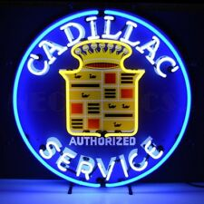 "Cadilac Authorized Service Auto Neon Sign 25""x25"""