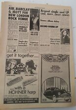 The SWEET ROLLING STONES MITCH RYDER 1972 UK ARTICLE / clipping