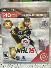 Brand New!!! NHL 15 Ultimate Edition (Sony PS3, 2014) Factory Sealed!!!