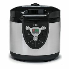 Elite Platinum 6 Quart Electric Pressure Cooker Black/Stainless-Steel EPC607