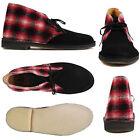 Clarks Originals Men X DESERT BOOTS RED COMBI SUEDE UK 7,8,9,10,11,12 F
