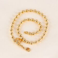 """9ct 9k Yellow """"Gold FILLED"""" Lovely BEADED ANKLE CHAIN  , Bell ANKLET, 10.6"""" Gift"""