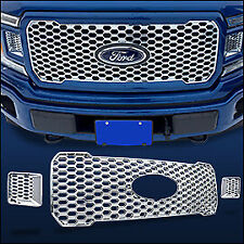 Chrome Grille OVERLAY (3 PCS) FITS 2018 2019 2020 Ford F150 XL w/ STX Package