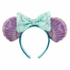 Disney Parks 30th Little Mermaid Hair Don't Care Ears Bow Ariel Headband Hat New