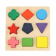 Gybber & Mumu Wooden Preschool Shape Puzzle Toy Learning Basic Shapes And Colors