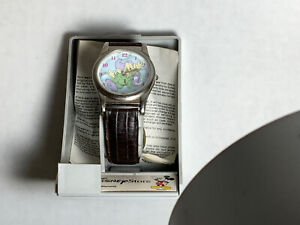 """Vintage Disney Snow White DOPEY BUBBLES WATCH Limited Edition Band 8.75"""" In Box"""